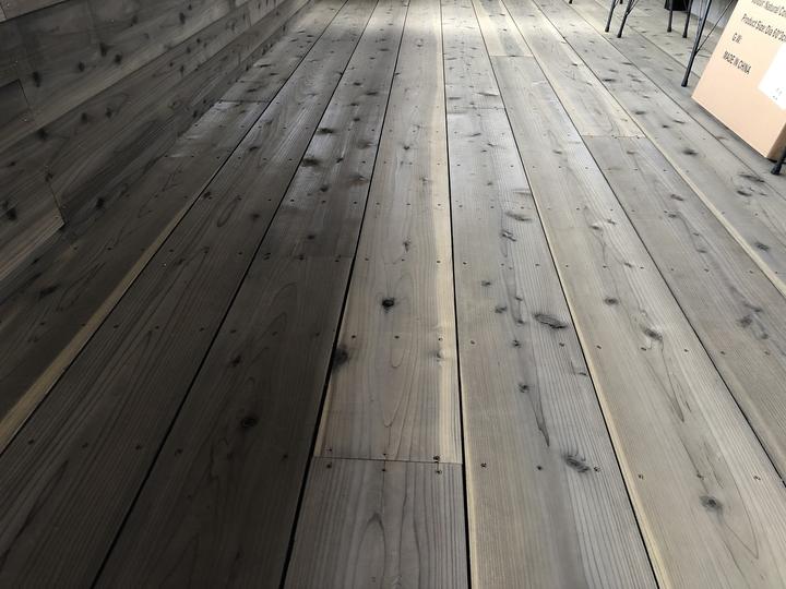 会津若松市 リフォーム 増改築 修繕 営繕 カフェ テラス ウッドデッキ 自然素材 杉板 ウッドロングエコ 木製建
