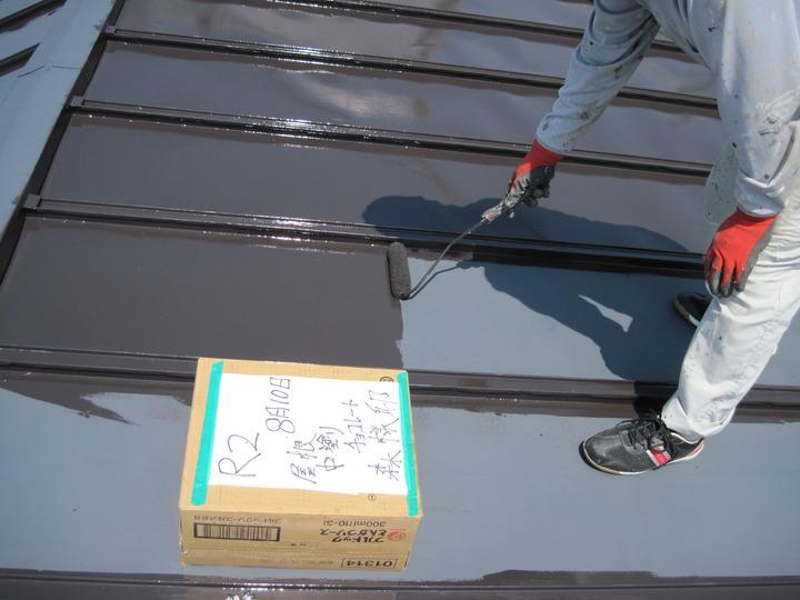 福島県会津若松市のご自宅で、屋根を新しく塗替えした外装リフォーム事例